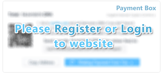 You need first to login or register on the website to make Bitcoin/Altcoin Payments
